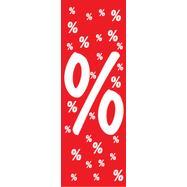 Drzac za pllafon,sa simbolom procenta,od papira