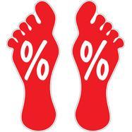 Podni znak na lepljenje sa otiskom stopala