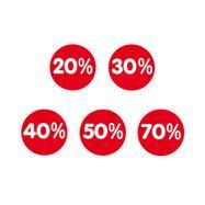 Stiker u obliku procenta,razliciti oblici