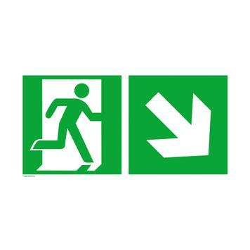 Izlaz u hitnim slučajevima sa direkcionalnom strelicom desno,na dole