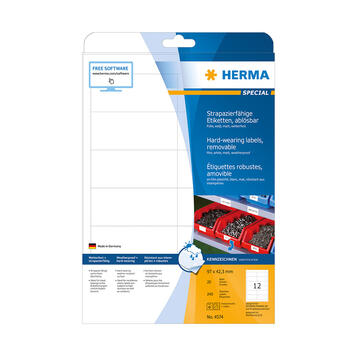 Vodootporne etikete, Herma 4572