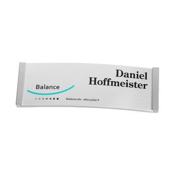 "Pločica za ime Balance ""alu-complete"""