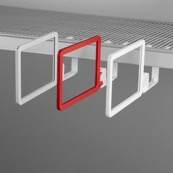 Stoper za regale za klatecim okvirom DIN A6