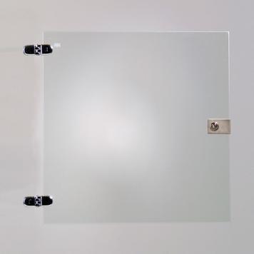Staklena vrata za jednu sekciju za samougradne vitrine