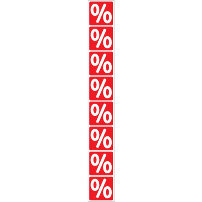 Stiker u obliku procenta-banderola