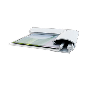 Klik -klak okvir sa držačem za lampu, 25 mm Profil,sa gerung uglom, srebrno eloksiran
