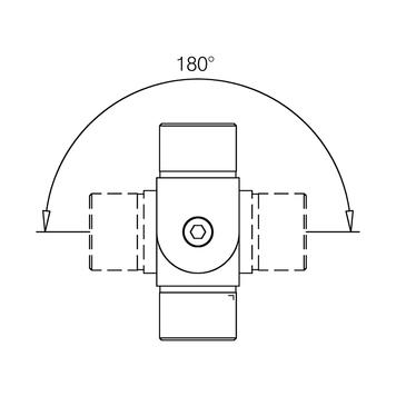 Unutrasnji konektor cevi - 90° bis + 90°, Efekat nerdjajuceg celika