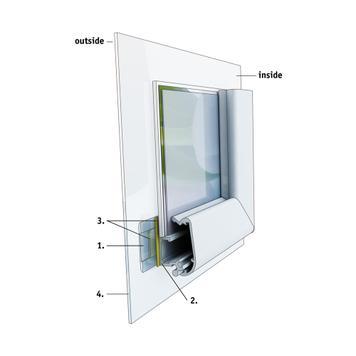 """Sistem okvira za prozor """"Feko"""",srebrno eloksiran, sklopivi uglovi"""