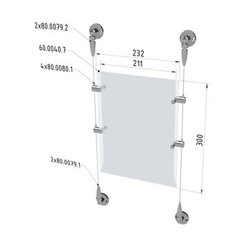 "set sistema kablovat ""Zid na zid"" odn.. ""Pod/Plafon"""